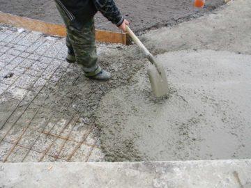 Устройство бетонных дорожек технология